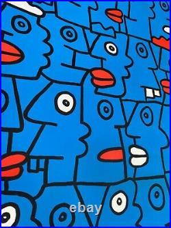 Thierry Noir Large original canvas head painting manifest