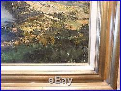 Tom J. Dooley Original Oil On Canvas Painting Mountain Landscape