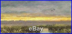 Twilight Tonalist Field Forest Farm Impressionism Art Oil Painting Landscape
