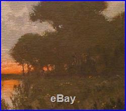 Twilight Tonalist Wetlands Impressionism Art Oil Painting Landscape dawn sun