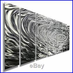 ULTRA MODERN Metal Wall Art Abstract Silver Sculpture Contemporary By Jon Allen