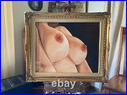 VANWINKLE ORIGINAL NUDE woman oil painting SECOND IMPRESSIONS 16x20 canvas