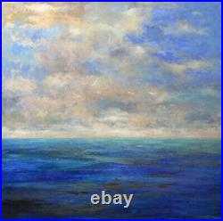 Very large Painting Original Acrylic on Canvas Ocean Art. By Hunoz 48 x 48