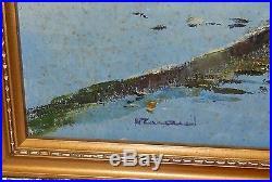 Vietnam Mia Cay Rice Field Original Oil On Canvas Landscape Painting