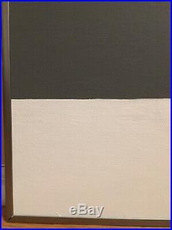 Vintage Mid Century Abstract Oil Geometric Hard Edge Painting