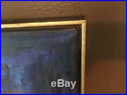 Vintage Original MCM Abstract Painting on Canvas Framed