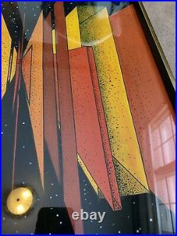 Vintage mid century modern geometric abstract art modern