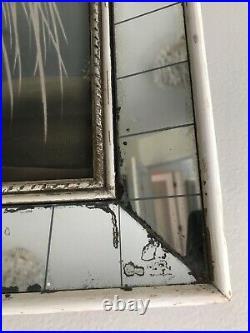 Vtg Framed Turner 1940s Vintage Art Deco Style Mirror Framed Turner Egret Print