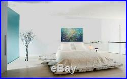 WATER Lily FLOWERS Original Abstract Oil Painting on Canvas Art by Luiza Vizoli