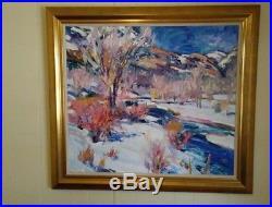 Walt Gonske Taos artist Large 30X 30 Signed Original Oil Painting on Canvas
