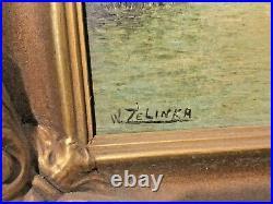 Wenzel Zelinka original Antique 1930 painting Beautiful! Canadian Banff artist