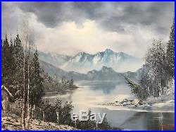 William Alexander (German, 1915-1997) Landscape Original Oil Painting on Canvas