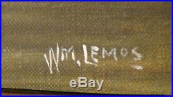 William M. Lemos (1861-1942, California)arab On Horsebackoriginal Oil On Canvas