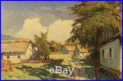 William Wendt Landscape Original Signed Oil On Canvas Fine Art