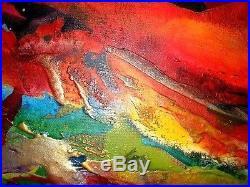 XL Set Of 4 Original Paintings On Canvas Textured Bright Modern Art C A Jasper