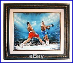 Yevgeniy Korol- Ali vs. Frazier Original Oil on Canvas with COA Sport Boxing Art